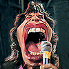 Mick jagger with Microphone